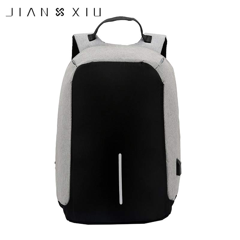 JIANXIU Women and Men Backpacks Oxford Anti Theft Bag USB Charge 15Inch Laptop Mochila Waterproof Travel SAC BackPack sopamey usb charge men anti theft travel backpack 16 inch laptop backpacks for male waterproof school backpacks bags wholesale