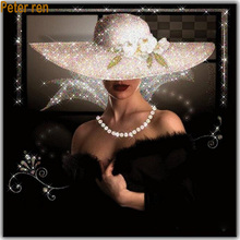 Full Diamond embroidery Beauty hat pearl painting beautiful girl DIY Crafts 3d Square mosaic beadwork paintings