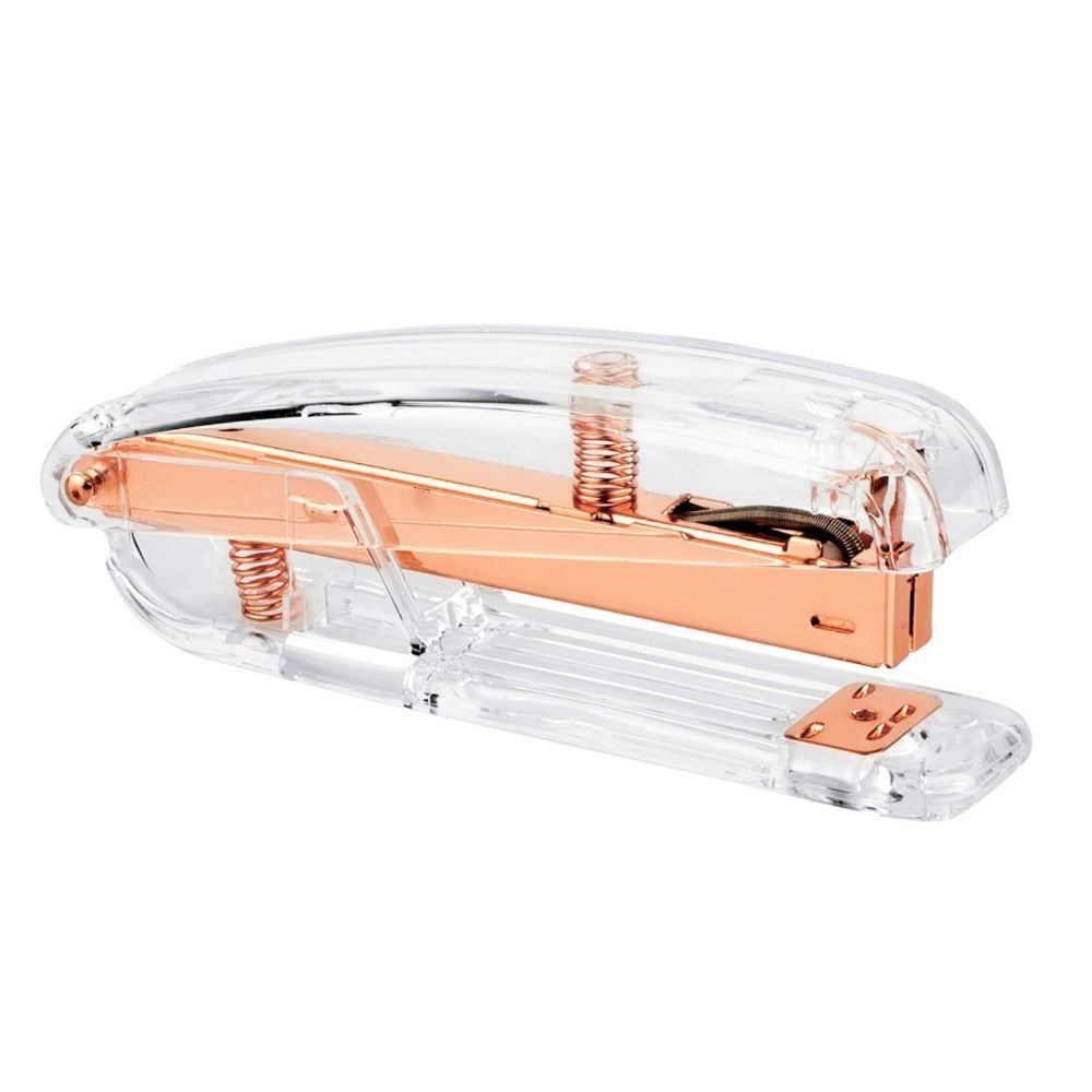 Rose Gold Stapler Edition Metal Manual Staplers 24/6 26/6 Include 100 Pcstaples Office Accessories School Supplies deli manual heavy duty stapler 50 pages thick repair book make book staplers school office binding machine supplies dropshipping