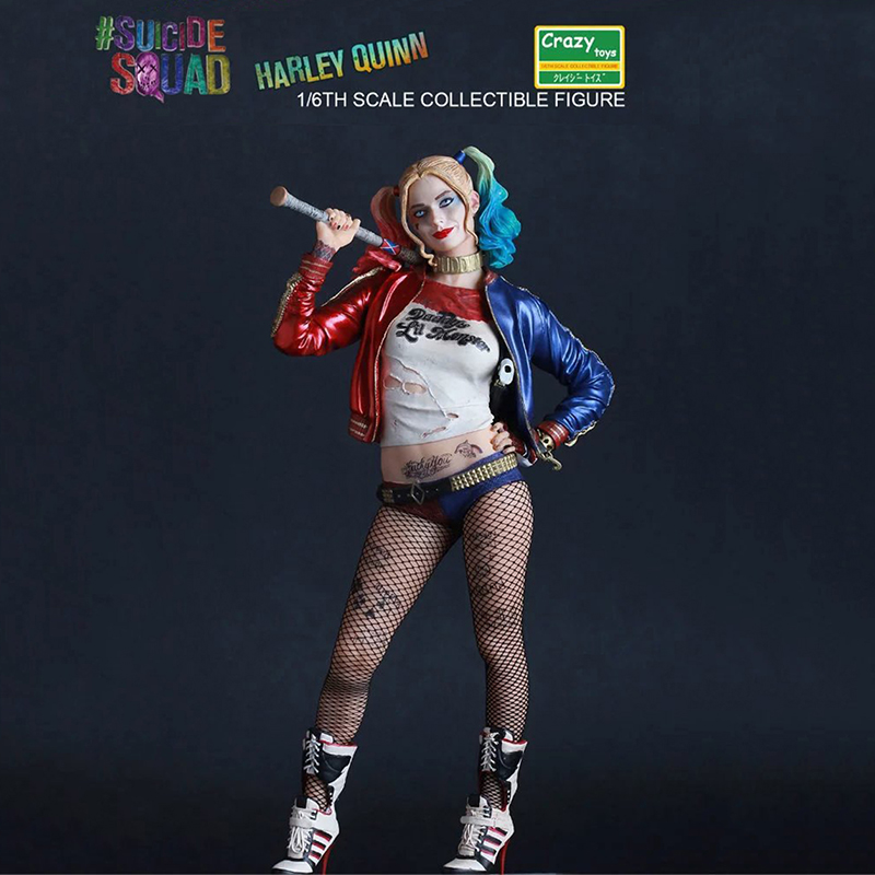 10 26cm The Avengers Super Hero Crazy Toys Suicide Squad Harley Quinn Action Figure PVC Doll Anime Collectible Model Toys