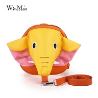 New Arriveal Anti Lost 3D Elephant Backpack Litle Kids Famous Designer Cute Cartoon Elephant Nose Kindergarden