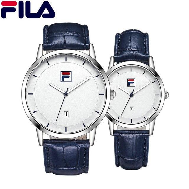 744ed43cb12 Fila Hommes montre femme Couple montre à quartz qualité supérieure De Luxe  Top Italie Marque De