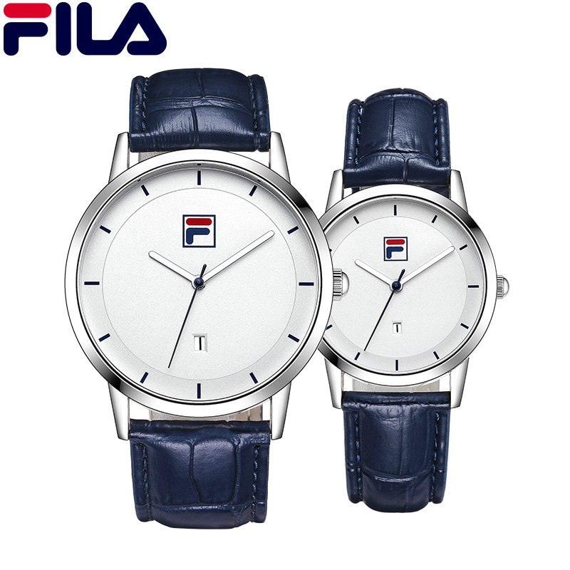 Fila Men Women Watch Couple Quartz Wristwatch High Quality Luxury Top Italy Brand Fashion Casual Auto Date Leather Strap 618 high quality for lenovo tab 3 8 plus tab3 p8 tb 8703f tb 8703n tb 8703r lcd display touch screen digitizer assembly free tools