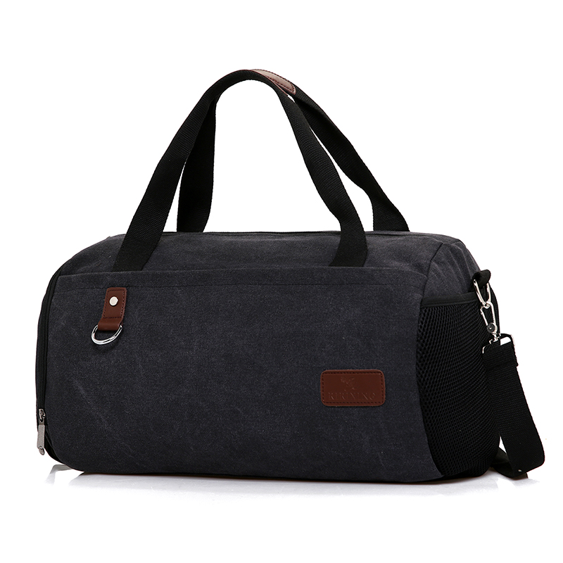 Men High Quality Canvas Travel Bag Mulifunctional Duffle Gym Bag For Teenager Large Capacity Sport Shoulder Hand Bag Fashion