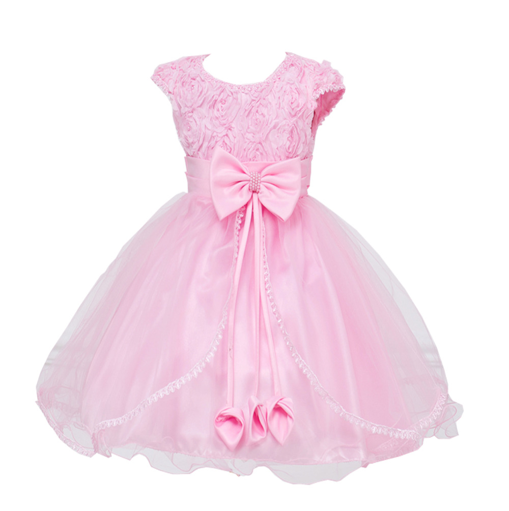 High quality Flowers Dress For Girls For Wedding and Party Summer Baby Clothes Princess Party Kids Dresses Girl Infant Costume hot summer flower girls dress for wedding and party infant princess girl dresses toddler costume baby kids clothes