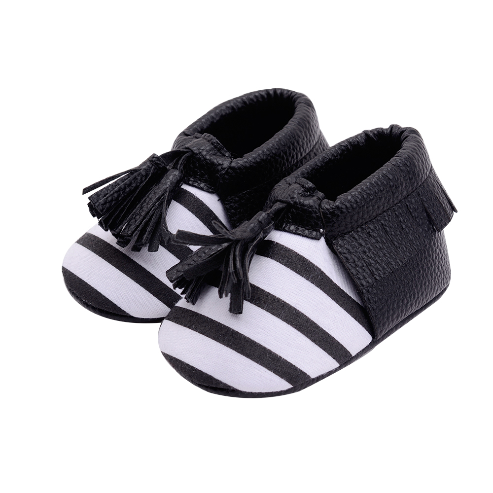 Baby boy girls shoes new born pink Booties Moccasins PU ...