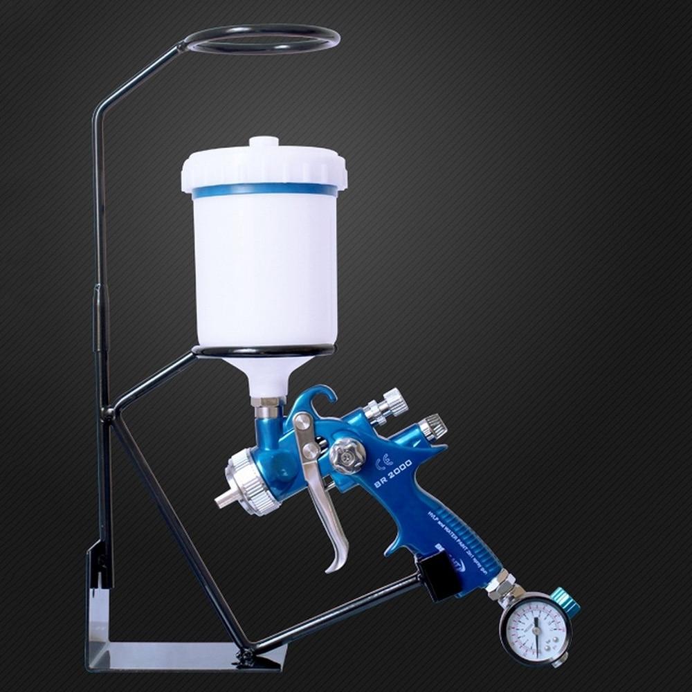 HVLP Spray Gun Bracket Sprayer Stand With Strainer Holder Gravity Feed Paint HolderWall Bench Paint Tools Parts