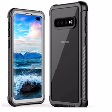 For Samsung S10+ case Rugged Heavy Duty Bumper Armor Cover Without Built-in Screen Protector Shock-Absorption Case For S10 Plus buff ultimate shock absorption glossy screen protector for iphone 5 transparent