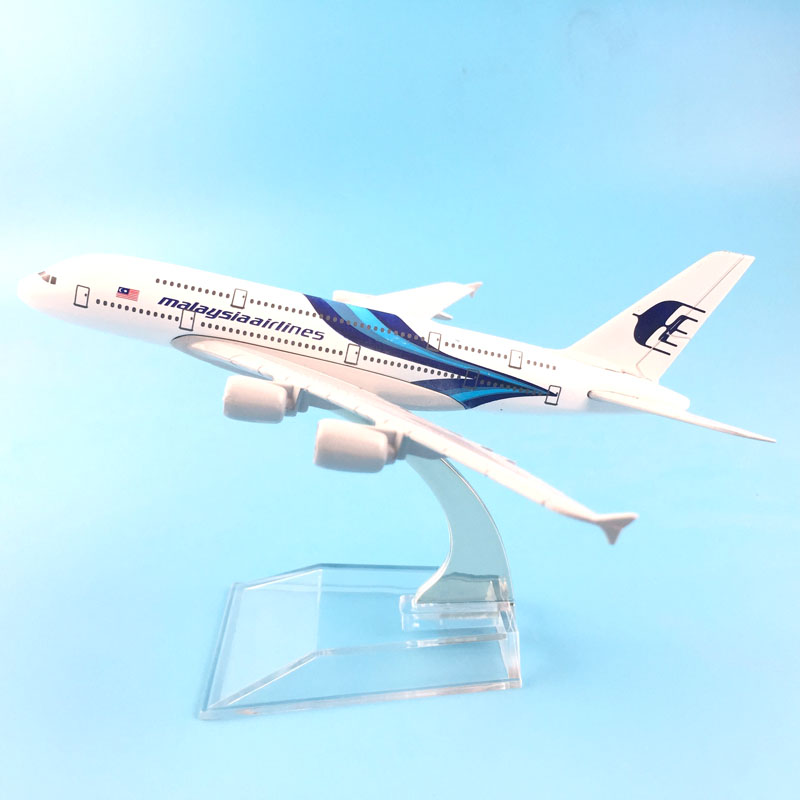 Airplane Model w Stand 16CM A380 MALAYSIA AIRLINES Metal Alloy Model Plane Alrcraft Mode ...