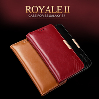 For Samsung Galaxy S7 Flip Case Luxury Leather Oil Wax Genuine Leather Covers For Samsung Galaxy