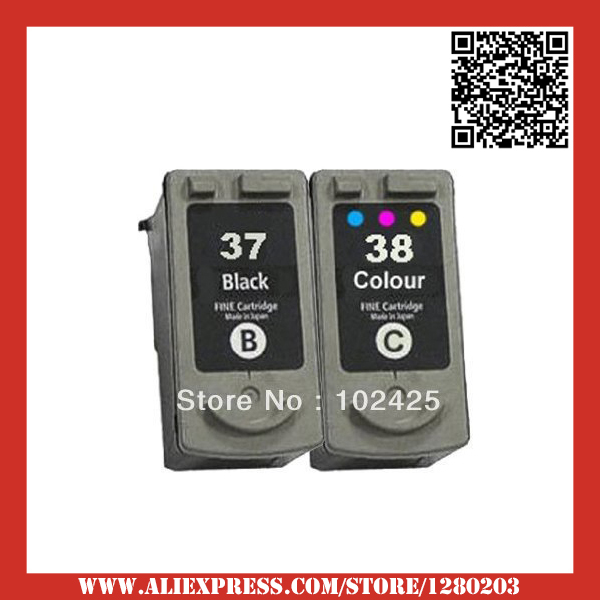 Black & Color compatible ink cartridges For Canon PG 37 CL-38 MP210 IP1800 MP190 IP1900 IP2500 IP2600 MP140 MP220 PG37 cl 38