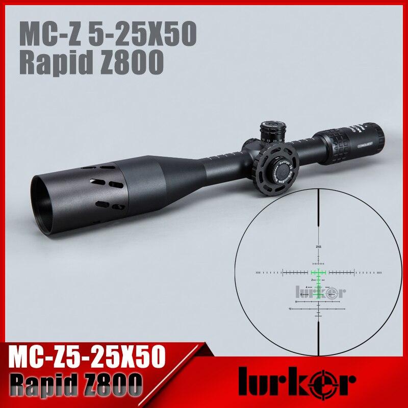 HLURKER Tactique 5-25X50 FFP Rapide Z800 Optique Lunette De Visée Latérale Parallaxe lunettes de Visée Portée Supports Pour Airsoft