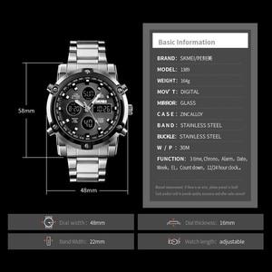 Image 4 - Skmei marca homens relógios digitais, dos homens á prova d água luxo luminoso relógio eletrônico de contagem regressiva