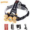 Yunmai 15000LM Powerful LED Headlamp Zoomable Waterproof Mining Headlight Rechargable Head Flashlight For Camping Lanterna Lampe