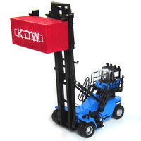 Alloy Diecast 1:50 Construction Vehicle Empty Box Stacker Forklift Climbing Model Simulation Car Model Excavator Children Toys