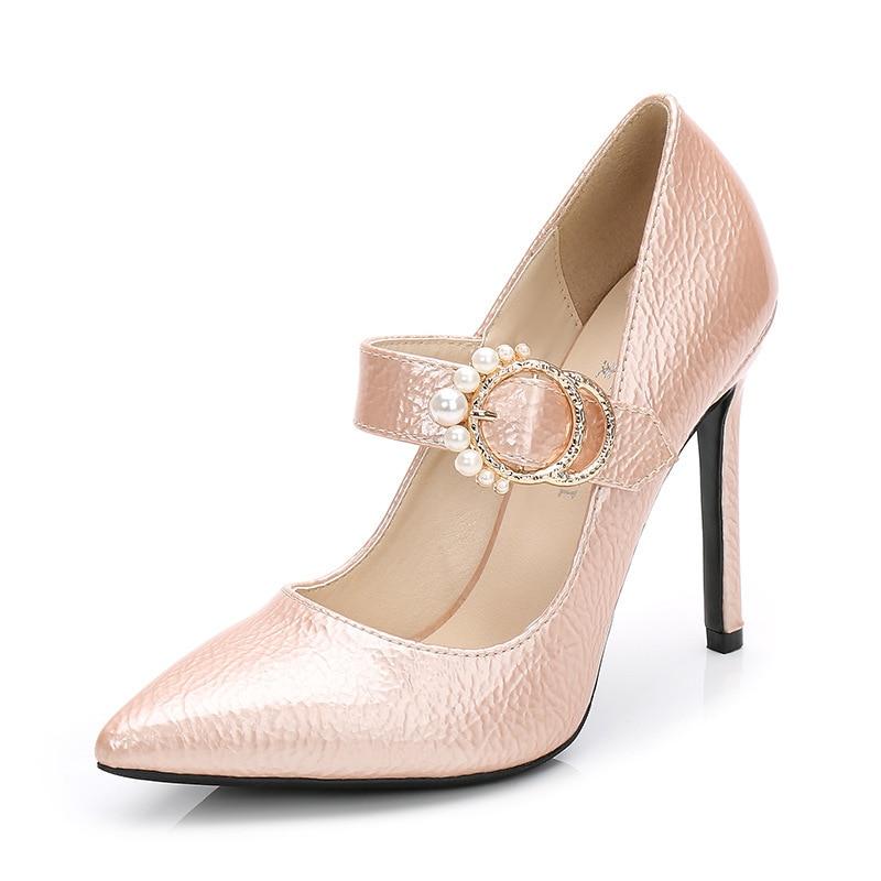 Alto Gruesos Gran Bajos Moda Tacones 2 Zapatos 3 Grandes 1 Mujer Grande Talla Grueso Redondos Tacón Para Tamaño De qZZH0wI