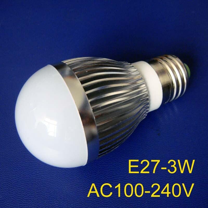 Envío Gratis 20 unids/lote alta calidad 3 w de alta potencia E27 bombillas led 3 w lámparas led e27 3 w luces led