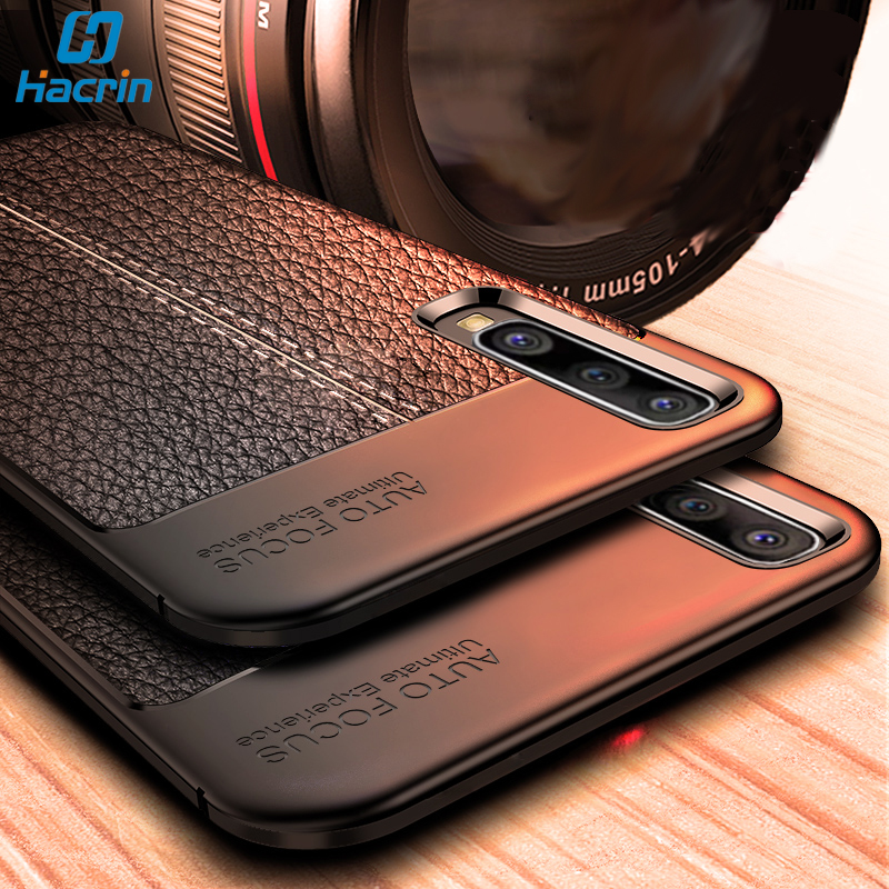 Hacrin Phone Case For Samsung Galaxy A50 Case Leather Soft TPU Funda For Samsung A50 Cover