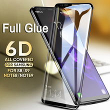 9H Full Glue 6D Curved Case Friendly Tempered Glass For Samsung Galaxy S8 S9 Plus S10e
