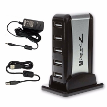 7 Ports USB Hub 110-240V AC US Adapter Adapter Vertical Stand High Speed Hub USB Splitter for  PC Computer Office Home