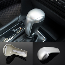 цена на For Mazda CX-5 CX5 AT 2017 2018 ABS Matte Car gear shift lever knob handle cover Cover Trim sticker car styling accessories 1pcs