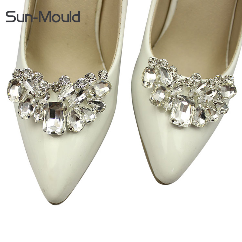 2 colors with removable clip fashion gem diamond shoes flower shoe buckle shoes accessories charms 50pair/lot DHL free shipping bronze silver gold buckles shoes slippers sandals shoes strap laces clothing bag 8mm belts buckle clip 500pcs lot free shipping