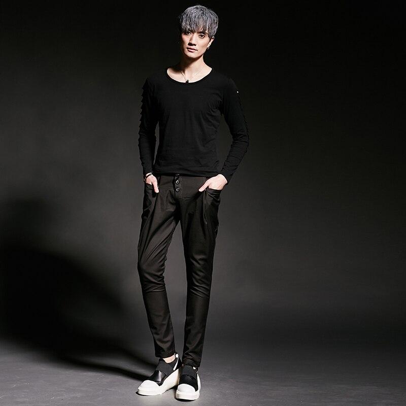 Personnalité Chanteur Taille Nouveau Hommes 27 Cheveux Plus 2017 Noir Styliste Baisse Entrejambe Pantalon Costumes Harem La Dj Costume De Vêtements Ds 44 FKJ3cT1lu