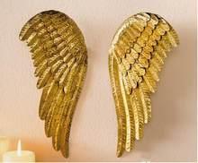 50% di sconto, 2pcs,H28cm, piccolo Natale golden fare vecchio ferro ali di angelo del pendente di Natale decorazione, casa appeso decorazione della parete.
