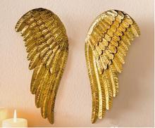 Бесплатная доставка, 2 шт./лот, high-28cm, Рождество бутик Золотой сделать старый гладить Крылья ангела кулон Рождество украшения кулон