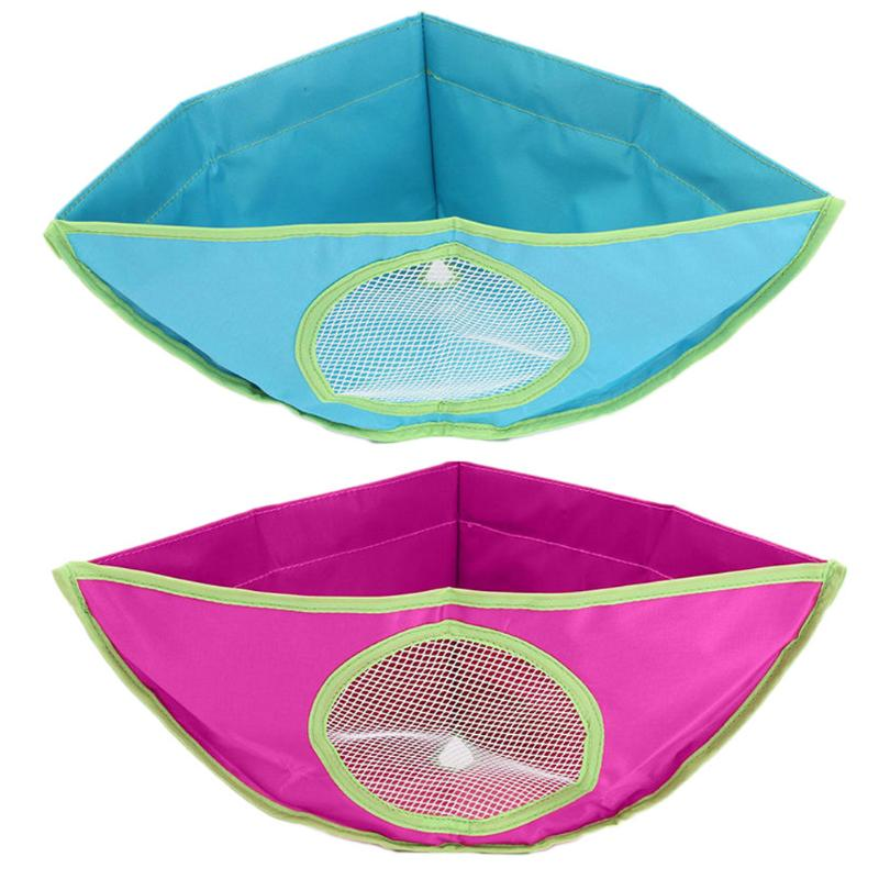 Bath Toy Organizer Storage Bin Baby Bathroom Bag Baby Kids Bath Tub Waterproof Toy Adsorption Hanging Storage Triangle Shape Bag ...