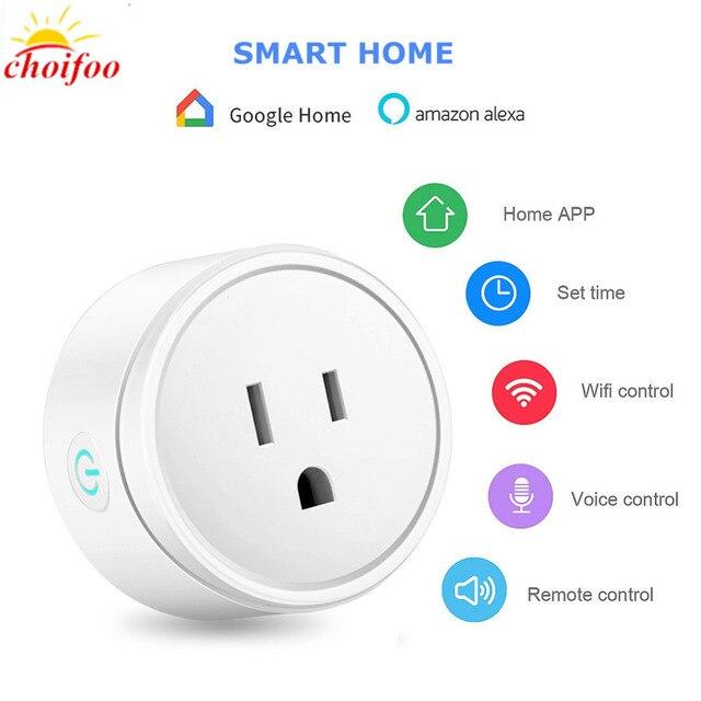 Wifi inalámbrico de casa inteligente hembra interruptor de Control remoto WiFi inteligente trabajo con Amazon Alexa Asistente de Google envío de la gota