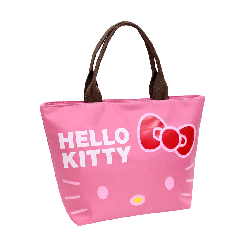 5d514e2d69 Oxford Women Zipper Totes Cartoon Hello Kitty Fashion Shopper Pouch Girl s  Shoulder Pack Handbags Ladies Accessories Supplies-in Top-Handle Bags from  ...