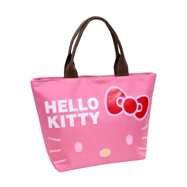 a627349cd2d6 Oxford Women Zipper Totes Cartoon Hello Kitty Fashion Shopper Pouch Girl s  Shoulder Pack Handbags Ladies Accessories Supplies