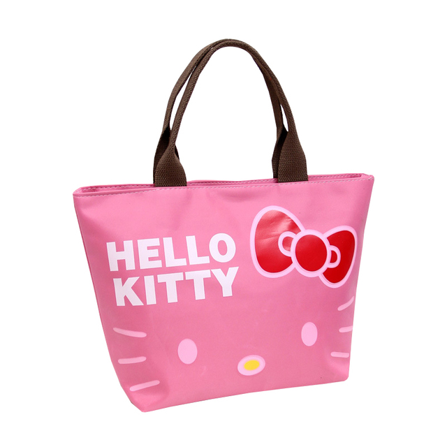 4983a1c7d7 Oxford Women Zipper Totes Cartoon Hello Kitty Fashion Shopper Pouch Girl s  Shoulder Pack Handbags Ladies Accessories