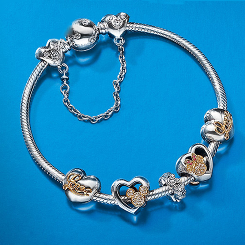 NEW Hot Sell European Style Silver Crystal Charm Bracelet for Women Murano Glass Beads Jewelry Sterling Silver GuaranteeNEW Hot Sell European Style Silver Crystal Charm Bracelet for Women Murano Glass Beads Jewelry Sterling Silver Guarantee