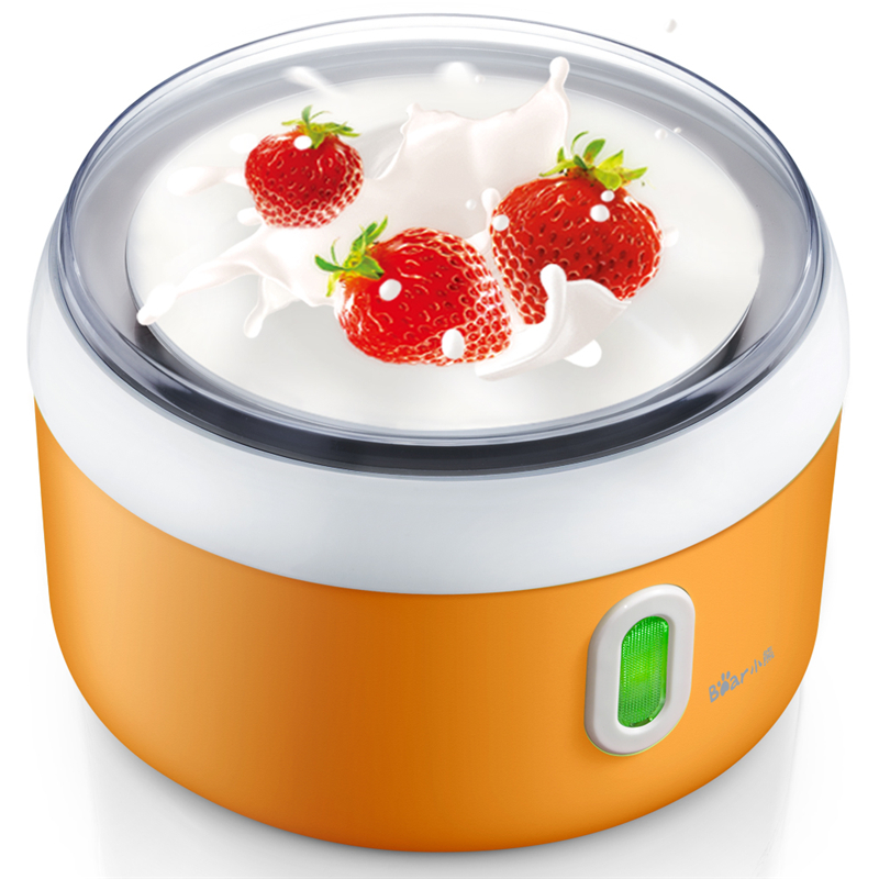 Bear Yogurt Makers Fully Automatic Yogurt Rice Wine Natto Making Machine with 4 Ceramics Sub-cup and 1L Stainless Steel Liner hot selling electric yogurt machine stainless steel liner mini automatic yogurt maker 1l capacity 220v