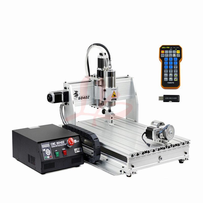USB Mach3 cnc 6040 4 axis 2200w engraving machine with mach3 remote control for metal cutting,free tax to EU eur free tax cnc 6040z frame of engraving and milling machine for diy cnc router