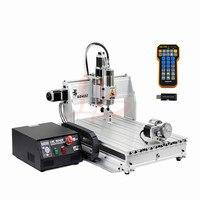 USB Mach3 cnc 6040 4 axis 2200w engraving machine with mach3 remote control for metal cutting
