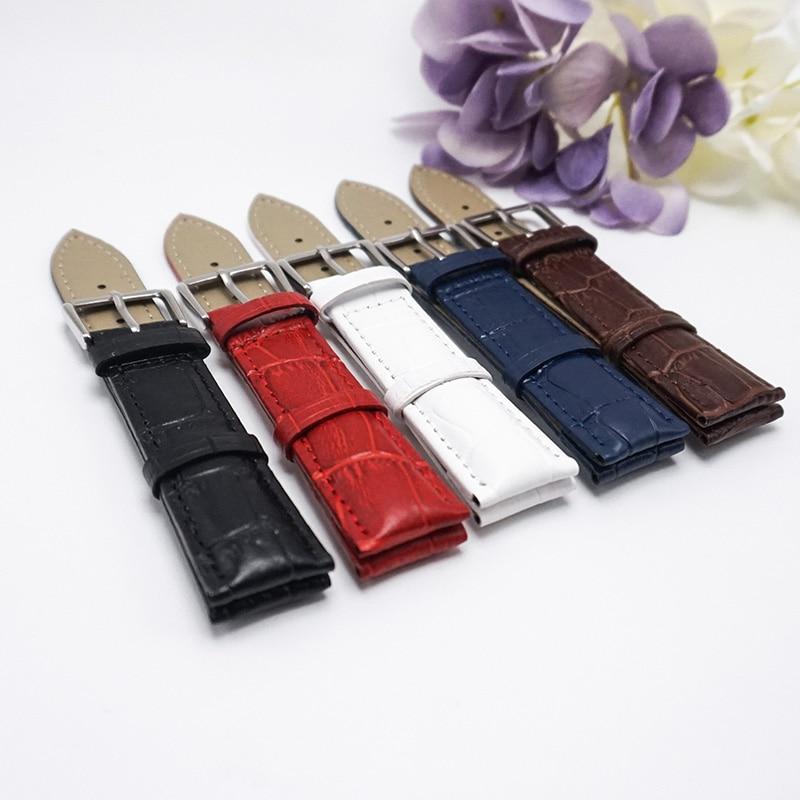 2018 Hot leather strap 16MM18MM20MM22MM Watchband 20mm Correa de reloj 20 , wristwatch watches Women watch clock watchbands 14 цена