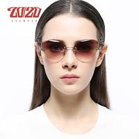 20/20 Dames Luxe Cat Eye Zonnebril Vrouwen Gradiëntkleur Zonnebril Vintage Merk Designer Shades Eyewear Oculos S31150