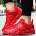 Los hombres Zapatos Casuales Transpirable de Cuero de LA PU de Aire Deportivos Zapatos Unisex Superstar Basket Entrenadores Zapatillas Inferiores Rojos Negro Mens Jorda