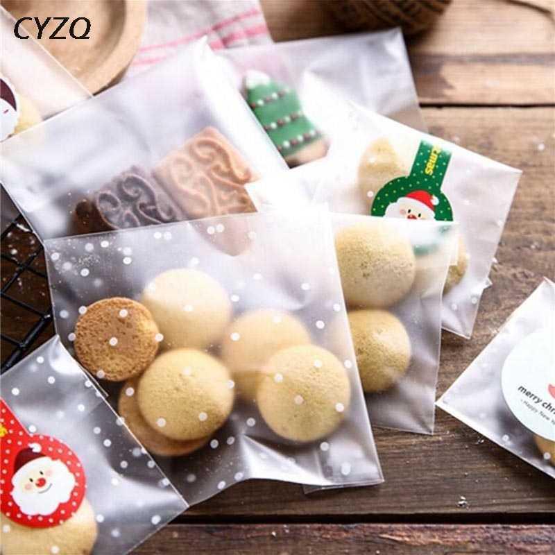 50 шт./партия 10*10 см матовый милый пластиковый пакет в горошек для свадебной вечеринки для конфет и печенья Упаковочные пакеты обертка для кексов самоклеющаяся подарочная сумка