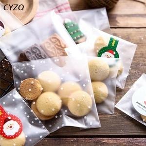 Image 5 - Bolsa de plástico esmerilada de 4 tamaños, embalaje de galletas de caramelo para fiesta de boda, envoltorio para cupcakes, bolsa de regalo autoadhesiva