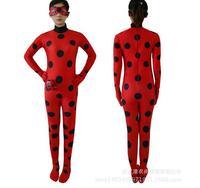 Adult Kids Zip The Ladybug Cosplay Costume Halloween Girls Ladybug Child Lady Bug Spandex Full Lycra