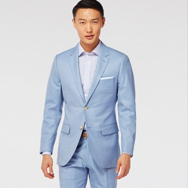 Bien connu Costume de mariage bleu clair marié smoking pour 207 d'été smoking  QS95