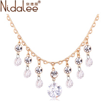 Nidalee 2016 Nouveau Luxe Exagéré Colliers Pour Les Femmes En Cristal De Cygne Collier Pendentifs Bijoux Parti Accessoires N1432