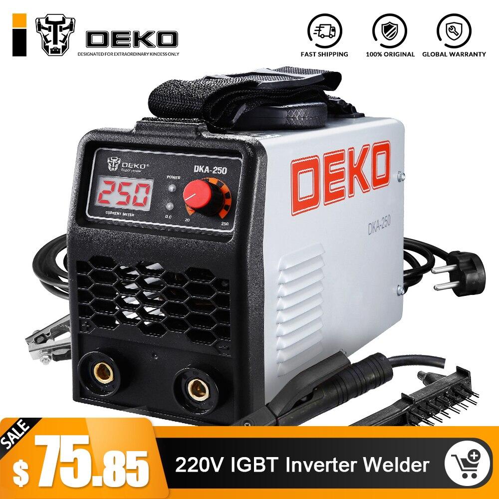 DEKO 220V 200 250A IGBT Inverter AC Arc Welding Machine MMA Welder for Welding Working and