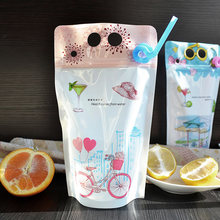 clear self sealing bags fruit juice Tea with milk Coffee Beverage bag Food grade plastic bags for clothes 13*23+4 100pcs(China)