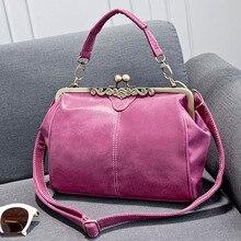 Marke Retro Frauen Leder Handtaschen Einkaufstasche Vintage Frauen Messenger Bags Damen Schultertasche Frauen Handtasche