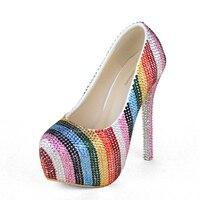 لحظات الحب أحذية امرأة أحذية السيدات الكريستال العروس أحذية عالية الكعب الزفاف للحزب مساء اللباس النساء الأحذية مباراة حقيبة